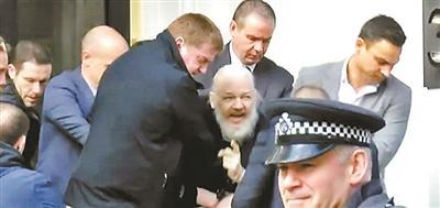 维基解密创始人阿桑奇在英国被捕