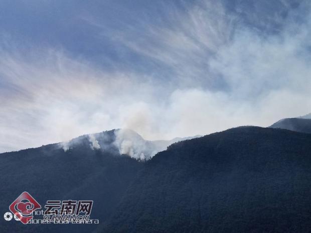 云南鹤庆县山火仍在扑救 火场山高坡陡、腐质层深详情