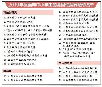 中小学生全国性竞赛活动只留29项连平麦豆摊小王子