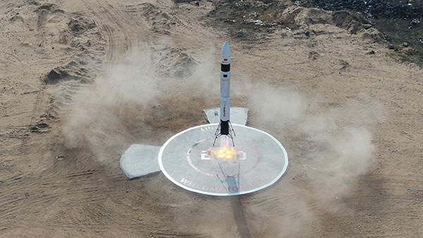 中国民营火箭完成第二次火箭发射及回收 高度40米