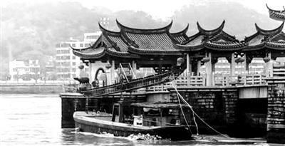 被货船碰撞潮州广济古桥受损后续调查正展开图