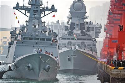 多国海军舰艇抵达青岛准备参加活动