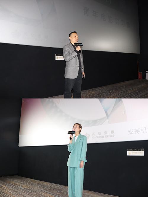 上图:北京电影学院党委副书记张健致辞