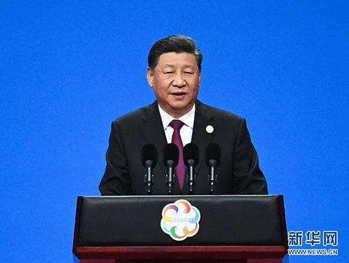 5月15日,国家主席习近平在北京国家会议中心出席亚洲文明对话大会开幕式,并发表题为《深化文明交流互鉴 共建亚洲命运共同体》的主旨演讲。 新华社记者 饶爱民 摄