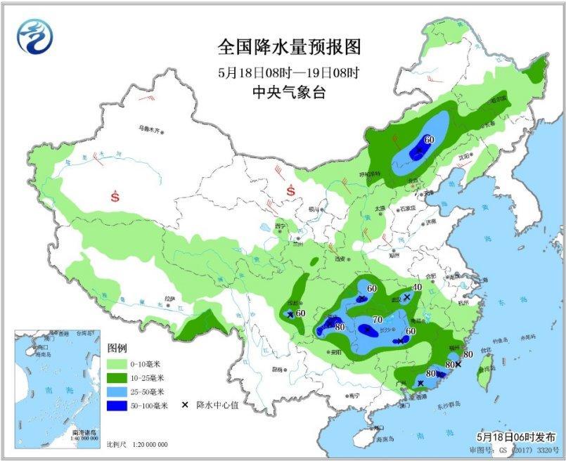 南方地区将有较强降水 北方大部有大风降温天气