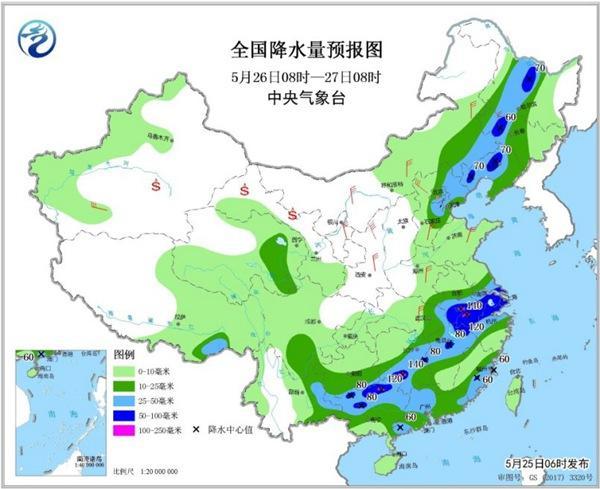 """北方强降雨昔日进进最强时段 热氛围给南方""""徒粽"""""""