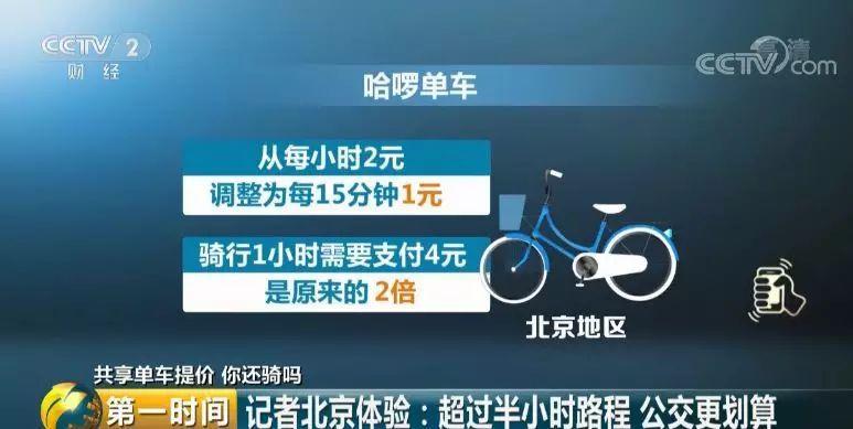 1小时4元,骑车比坐公交贵?共享单车集体涨价,你还骑吗?