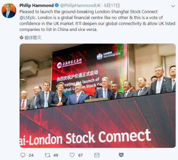 沪伦通正式启动 中国金融市场持续开放有益于全球经济