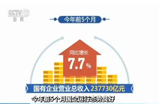 财政部数据显示:今年前5个月国企运行态势良好
