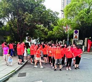 南昌村民健步走 快乐享健康