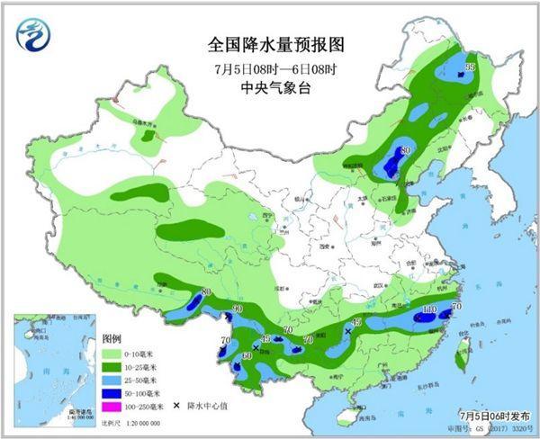 西南华北雷雨陪强对流 北方将迎更强降雨