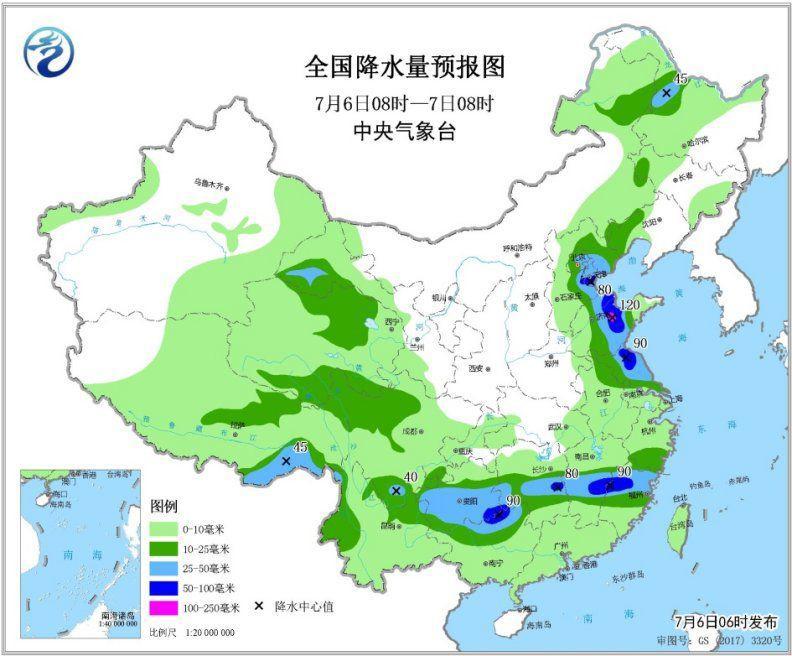 华北黄淮等地将有强对流天气 江南中部仍有较强降雨