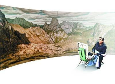 走近闻名油画家杨飞云:画笔是他的眼睛是他的足迹