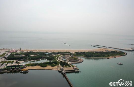 帆影幢幢 碧海金滩 俯瞰北纬36度阳光海岸