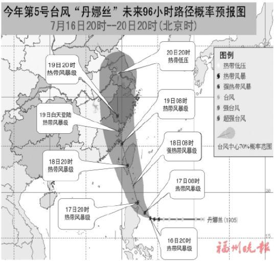 """台风""""丹娜丝""""后天或登陆福建沿海"""