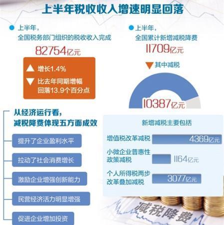 上半年全国累计新增减税降费11709亿元 民营经济普遍受惠