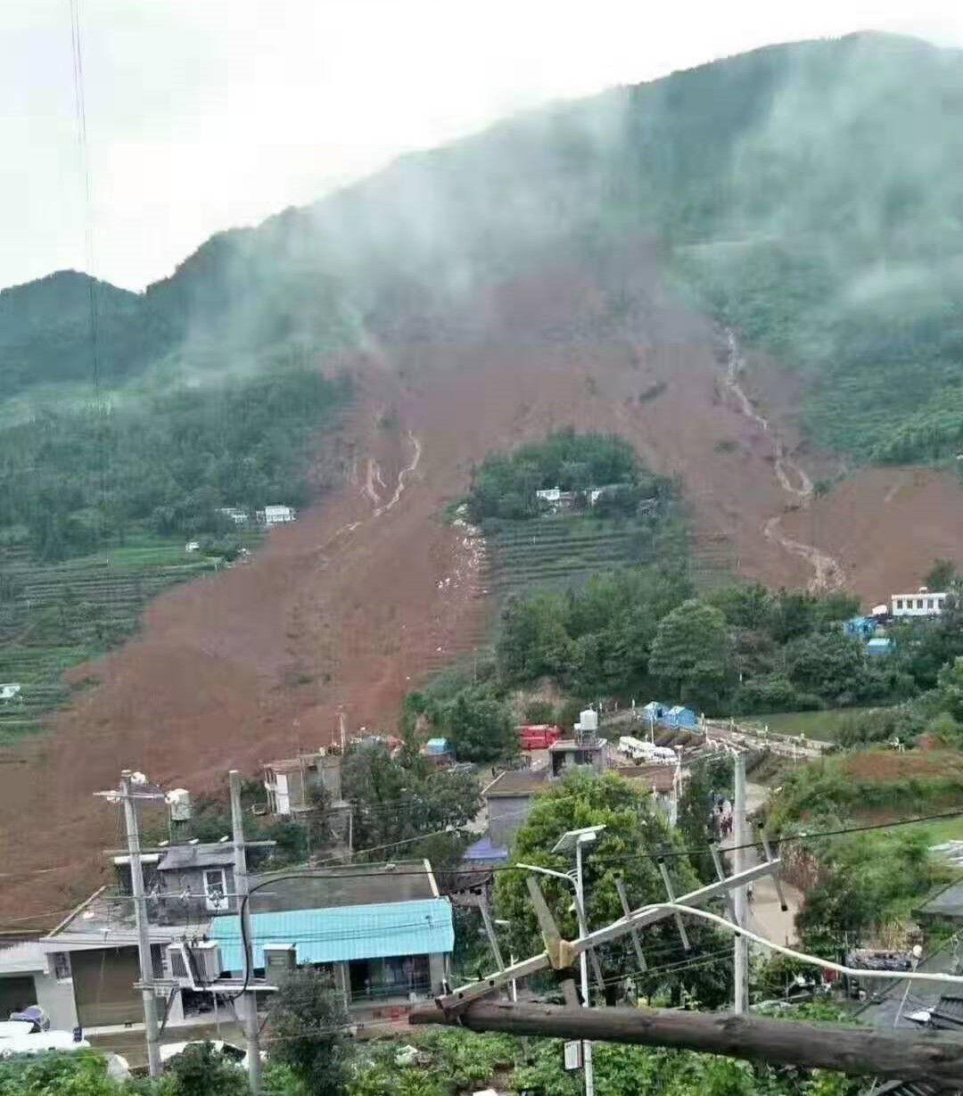 贵州水城山体滑坡13人遇难 现场堰塞湖已被清理