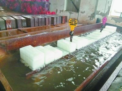 """北京最大""""冰工厂"""" 日产冰块200吨"""