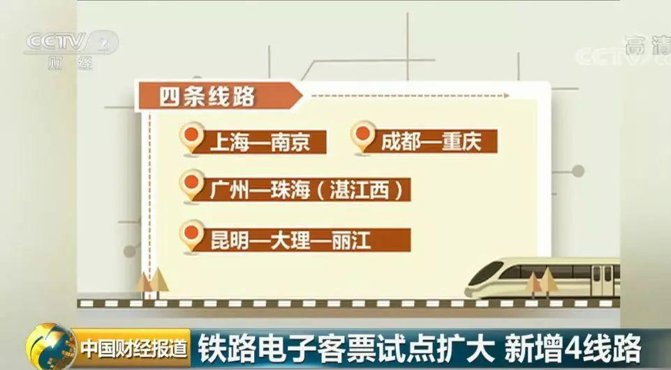 高铁电子客票半年2000万人次试用 再新增四条线路