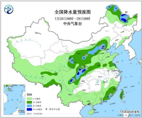 南方高温多地持续 北方迎汛期以来最大范围降雨