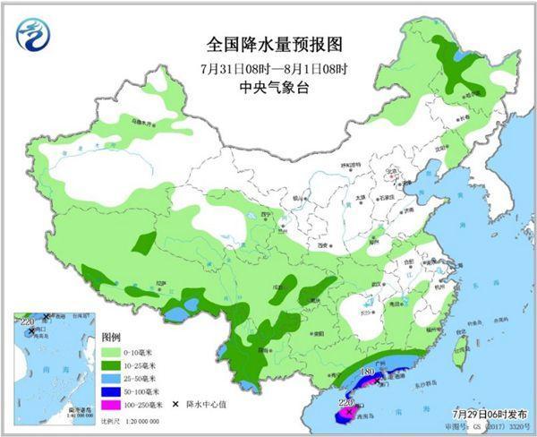 东北西南局地大暴雨 南斻��温持夜温近30℃