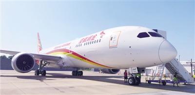 波音787-9梦想客机 首航深圳—郑州—乌鲁木齐航线