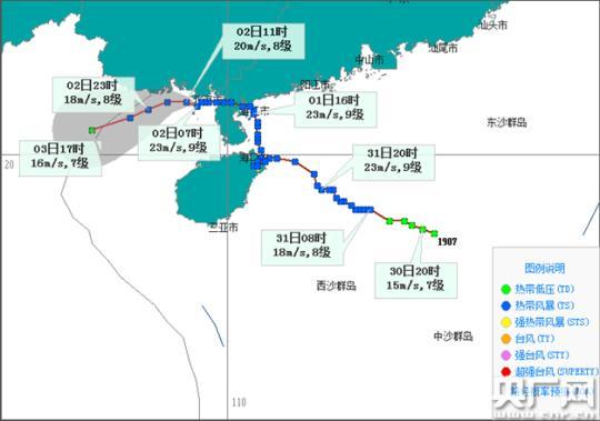 """""""韦帕""""2日李纬homex至3日沿广西近海西行"""