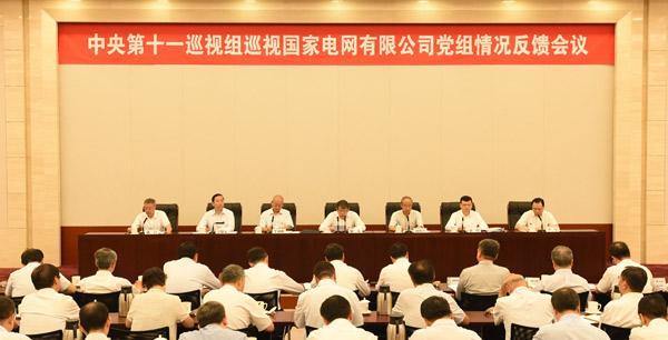 中央第十一巡视组向国家电网有限公司党组反馈巡视情况