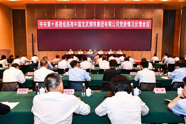 中央第十巡视组向中国宝武钢铁集团有限公司党委反馈巡视情况
