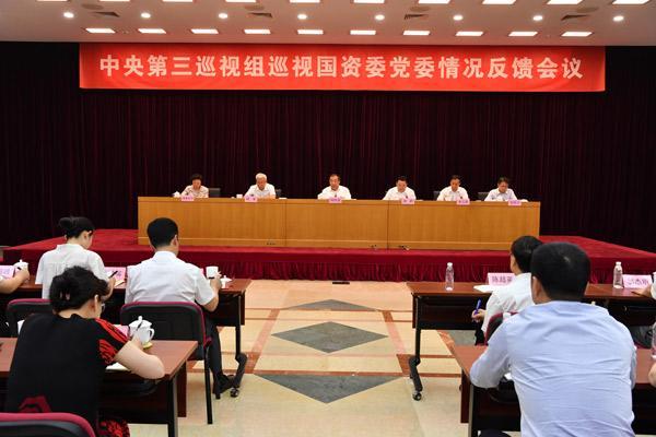 中央第三巡视组向国务院国有资产监督管理委员会党委反馈巡视情况
