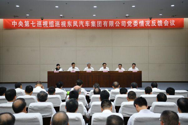 <b>中央第七巡视组向东风汽车集团有限公司党委反馈巡视情况</b>