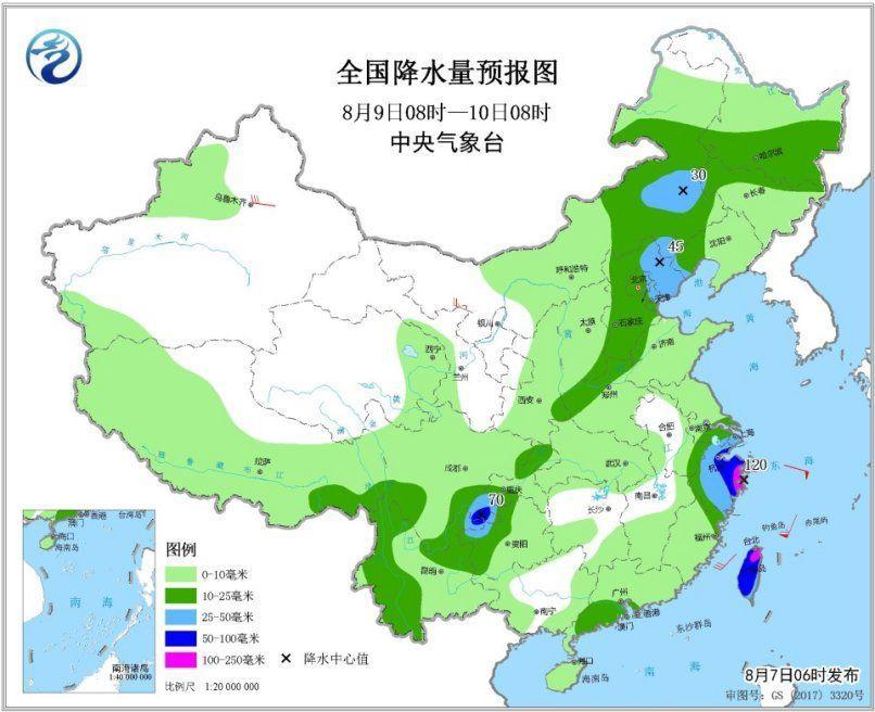 """北方【7省区】被低温""""掌控"""" 四气旋""""共舞""""联袂度七夕"""