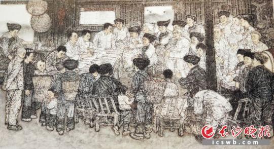 中国画《暖心》   王奋英