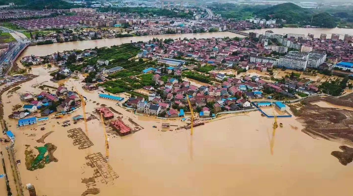 台风过境致宣城韩饭网多地暴发山洪 5万余人受灾