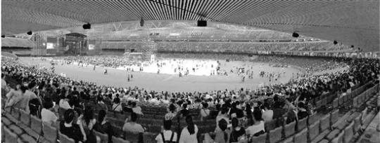 杭州奧體博覽中心體育場的首次個唱昨天亮相