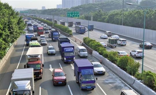 不是高峰时段 广州这些路