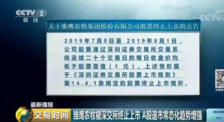 "A股退市常态化趋势增强 ""中国养猪第一股""如何一步步走向退市?"