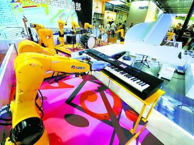 世界机器人大会仿生机器人展现高科技