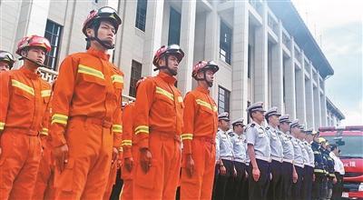 国内首创 消防队伍驻守国博