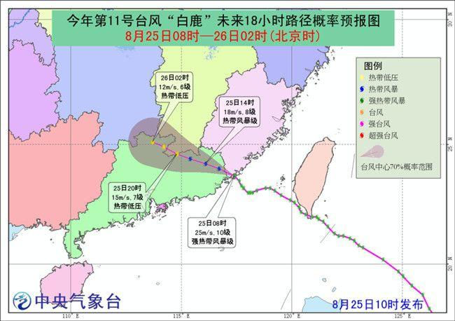 """台风""""白鹿""""来袭华南风雨强劲 海陆空交通受阻"""