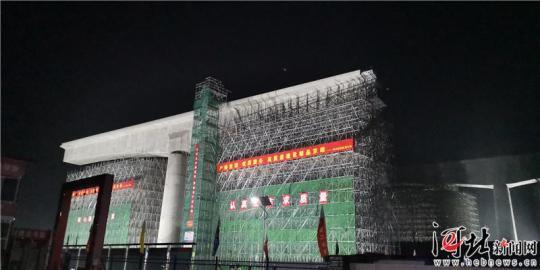 京雄城际铁路雄安新区首个桥梁转体施工胜利完成