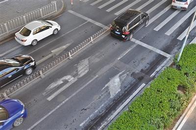北京部分路段通行不畅: