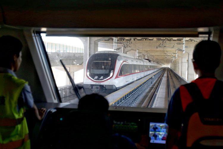 大興機場線9月底與機場同步開通 草橋站亮相(圖)