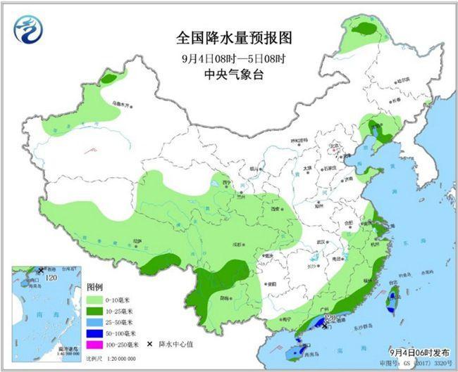 海北广东等天暴雨正在线 北方周终寒热再袭