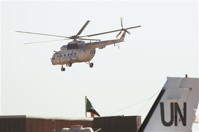 中国第3批赴苏丹达尔富尔维和直升机分队完成首飞