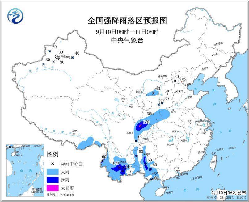 四川盆地等地有强foganglao活网站降雨 西北地区有大风降温天气