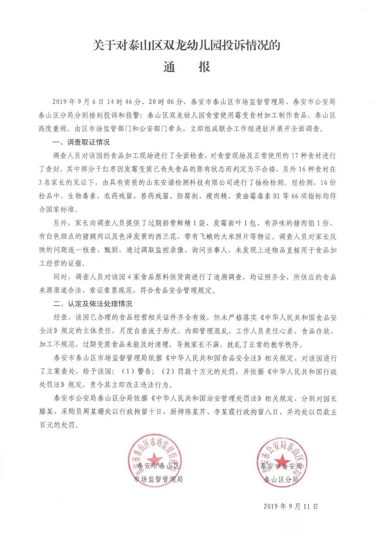 山东一幼儿园被曝食材发霉变质 官方:罚款10万