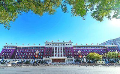 长安街最老当代建筑披新衣:没了爬山虎 添了照明灯