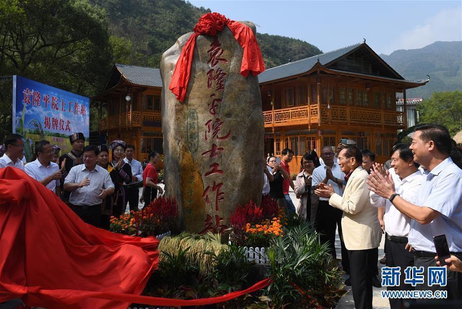袁隆平院士工作站在广西灌阳揭牌