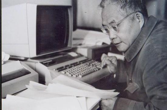 吴文俊在工作